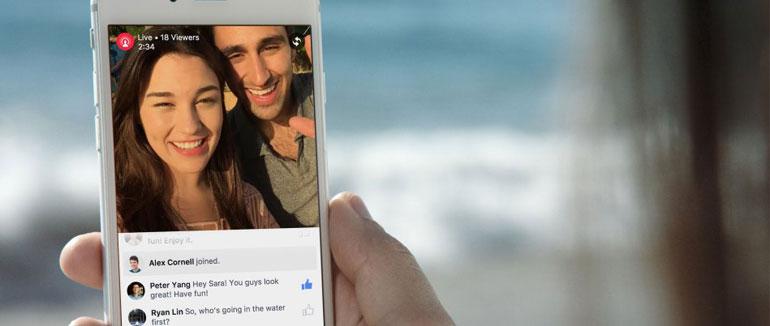 Comparte experiencias en streaming con Facebook