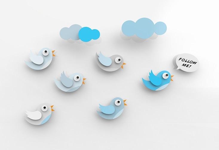 Logo de Twitter diciendo Follow me (sígueme)