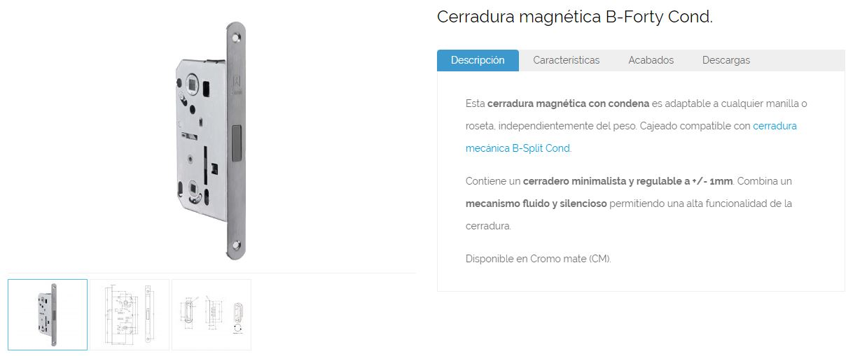 Inther cerradura magnetica descripcion