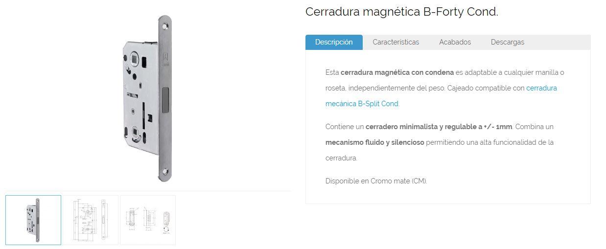 Inther cerradura magnetica descripcion