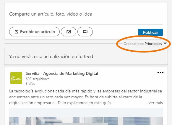 Servilia-Linkedin-Configuracion-feed-publicaciones